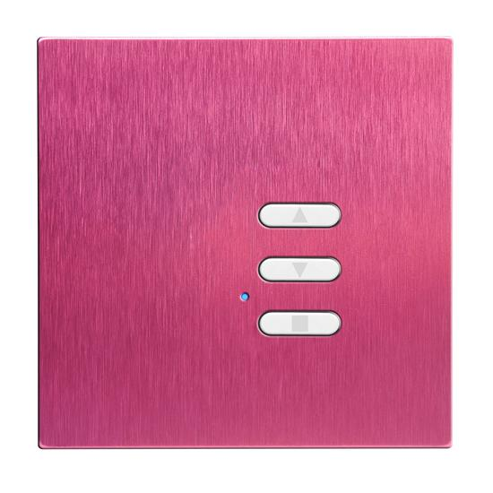 Wise Fusion Dimmer Slave Wireless 1 Gang Pink Aluminium 3V