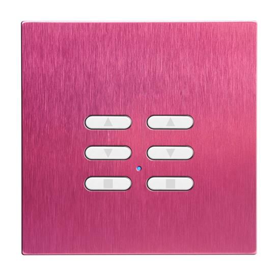 Wise Fusion Smart Dimmer Slave Wireless 2 Gang Pink Aluminium 3V
