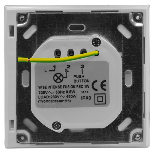 Wise Fusion Smart Dimmer Master Wired 1 Gang 240V Aluminium 450W