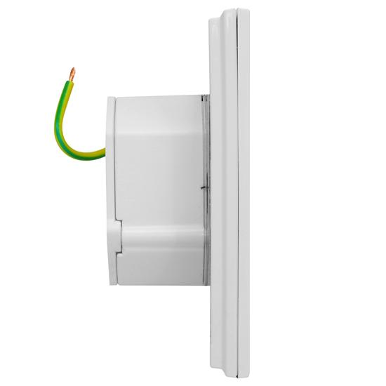 Wise Fusion Smart Dimmer Master Wired 1 Gang 240V Satin White Aluminium 450W