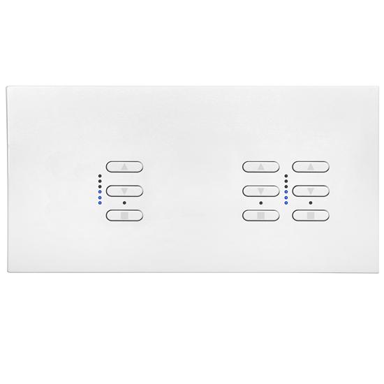 Wise Fusion Smart Dimmer Master Wired 3 Gang 240V Satin White Aluminium 1 x 450W, 2 x 250W