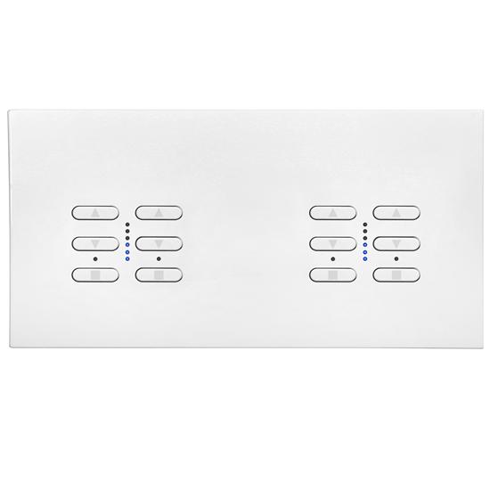 Wise Fusion Smart Dimmer Master Wired 4 Gang 240V Satin White Aluminium 4 x 250W