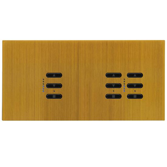 Wise Fusion Smart Dimmer Master Wired 3 Gang 240V Antique Brass 1 x 450W, 2 x 250W