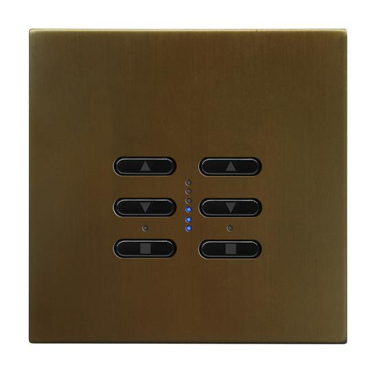 Wise Fusion Smart Dimmer Master Wired 2 Gang 240V Antique Bronze 2 x 250W