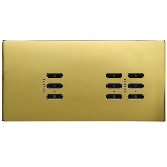 Wise Fusion Smart Dimmer Master Wired 3 Gang 240V Polished Brass 1 x 450W, 2 x 250W