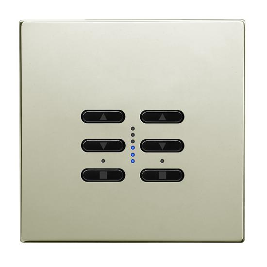 Wise Fusion Dimmer Master Wired 2 Gang 240V Polished Nickel 2 x 250W