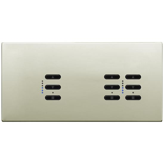 Wise Fusion Smart Dimmer Master Wired 3 Gang 240V Polished Nickel 1 x 450W, 2 x 250W