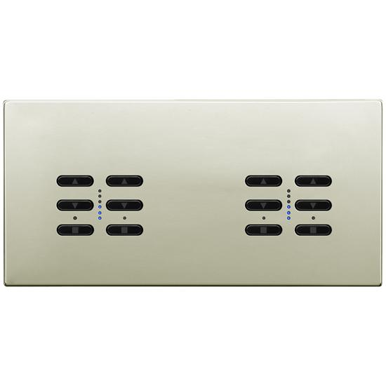 Wise Fusion Smart Dimmer Master Wired 4 Gang 240V Polished Nickel 4 x 250W