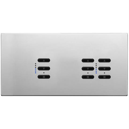Wise Fusion Smart Dimmer Master Wired 3 Gang 240V Polished Stainless Steel 1 x 450W, 2 x 250W