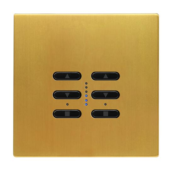 Wise Fusion Smart Dimmer Master Wired 2 Gang 240V Satin Brass 2 x 250W