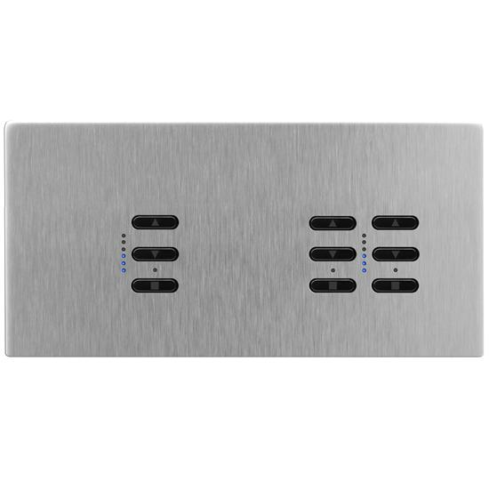 Wise Fusion Smart Dimmer Master Wired 3 Gang 240V Satin Stainless Steel 1 x 450W, 2 x 250W
