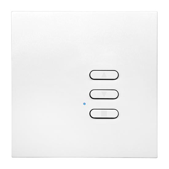 Wise Fusion Dimmer Slave Wireless 1 Gang Satin White Aluminium 3V