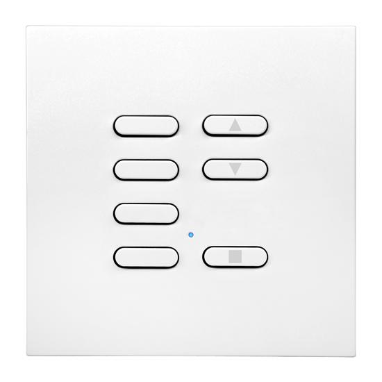 Wise Fusion Slave Wireless 7 Channel Satin White Aluminium 3V