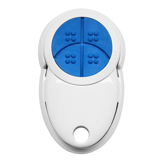 Wise Gloss Keyfob Remote 4 Channel White / Blue