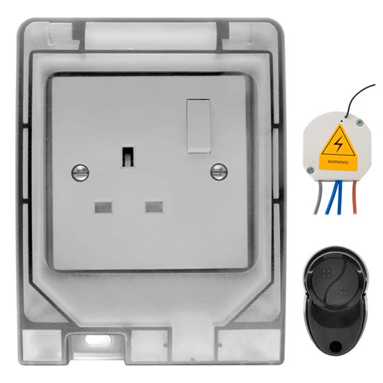 Wise Switch Receiver and Weather Proof Socket Kit 240V 1 Channel 3000W