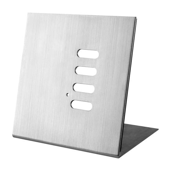 Wise Flip Intense/Fusion 4 Channel Free Standing Plate Satin Stainless Steel