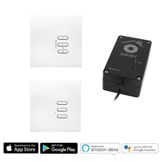Wise Wi-Fi Fusion Kit includes 1 gang Master and 1 gang Slave Keypads 240V 450W