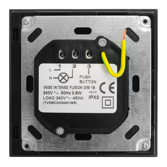 Wise Fusion Dimmer Master Wired 1 Gang 240V Black 450W